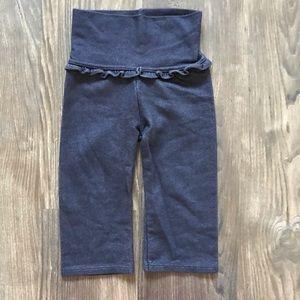 Blue Frill Waist Leggings